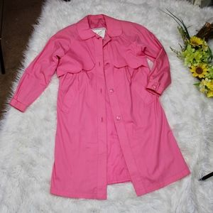 Vintage Paramount Pink Scalloped Trench Coat 10